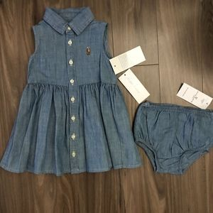 Adorable Denim Polo Dress w/Bloomers, SZ 6M